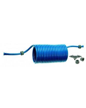 Tuyau en spirale à retour automatique, Bleu